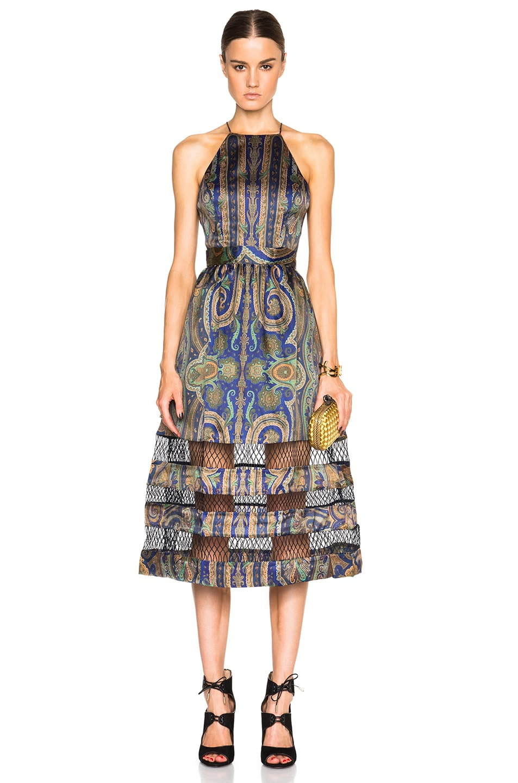 Image 1 of Zimmermann Esplanade Spiral Dress in Paisley