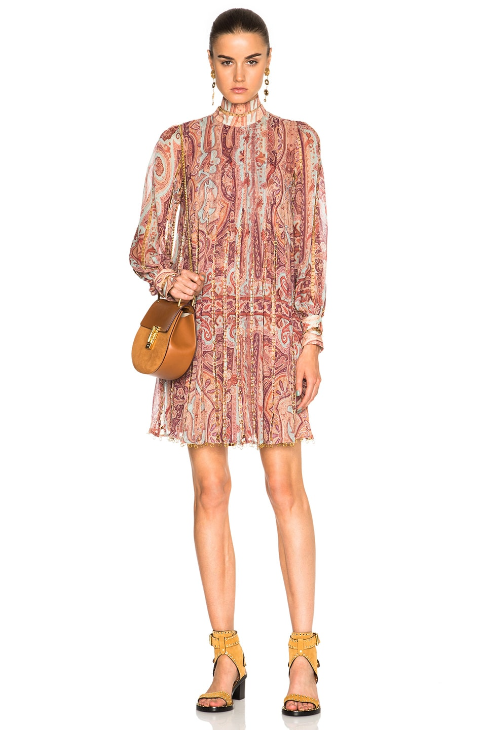 Image 1 of Zimmermann Link Swing Dress in Paisley