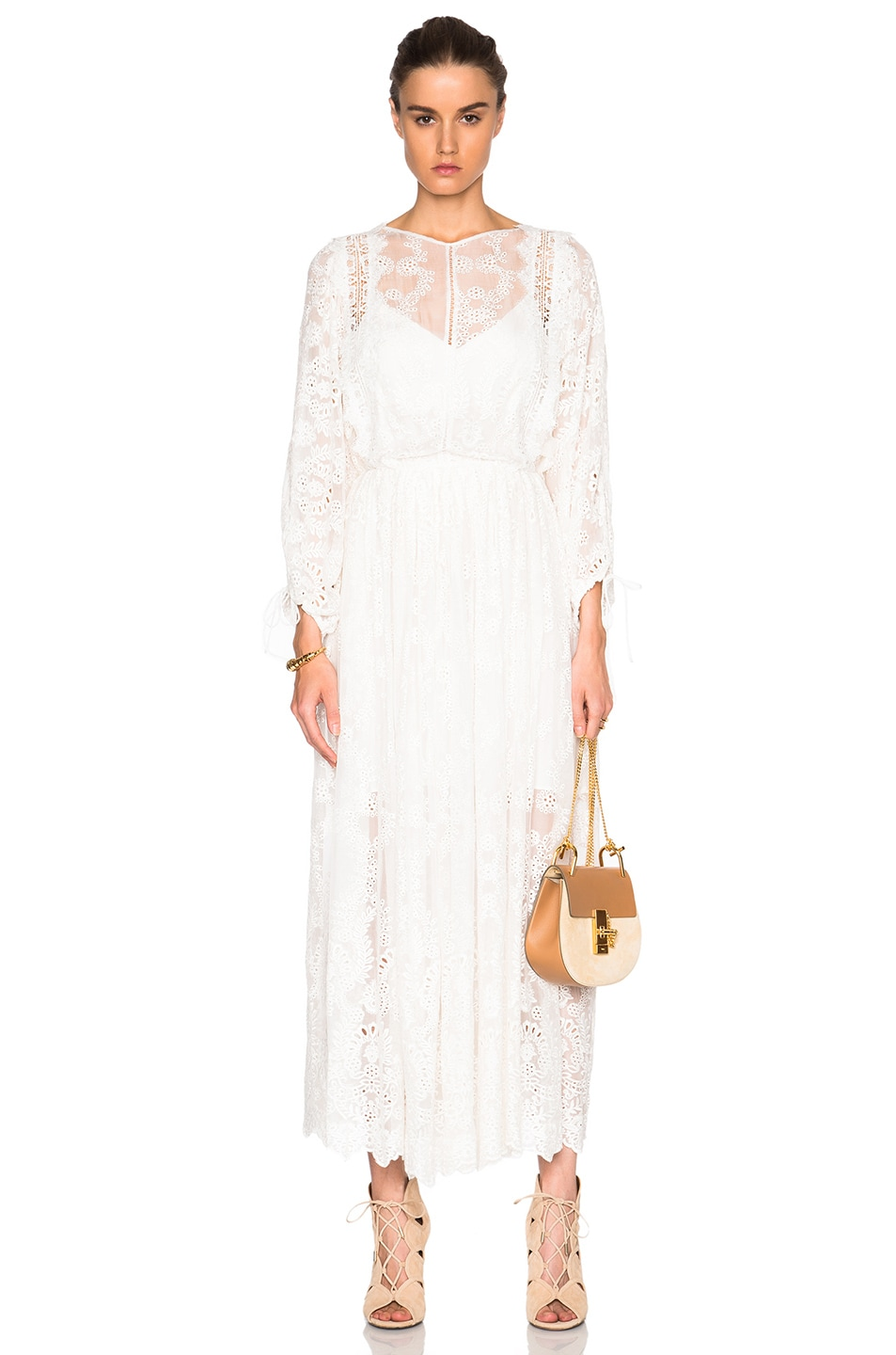 29c5710a7031 Image 1 of Zimmermann Alchemy Embroidered Dress in Ivory