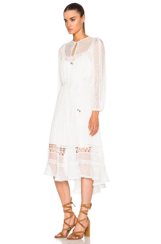 6fc3637c22 Image 2 of Zimmermann Belle Web Dot Dress in White
