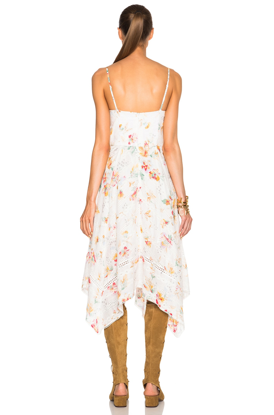 Image 5 of Zimmermann Belle Bustier Dress in Floral Embroidery