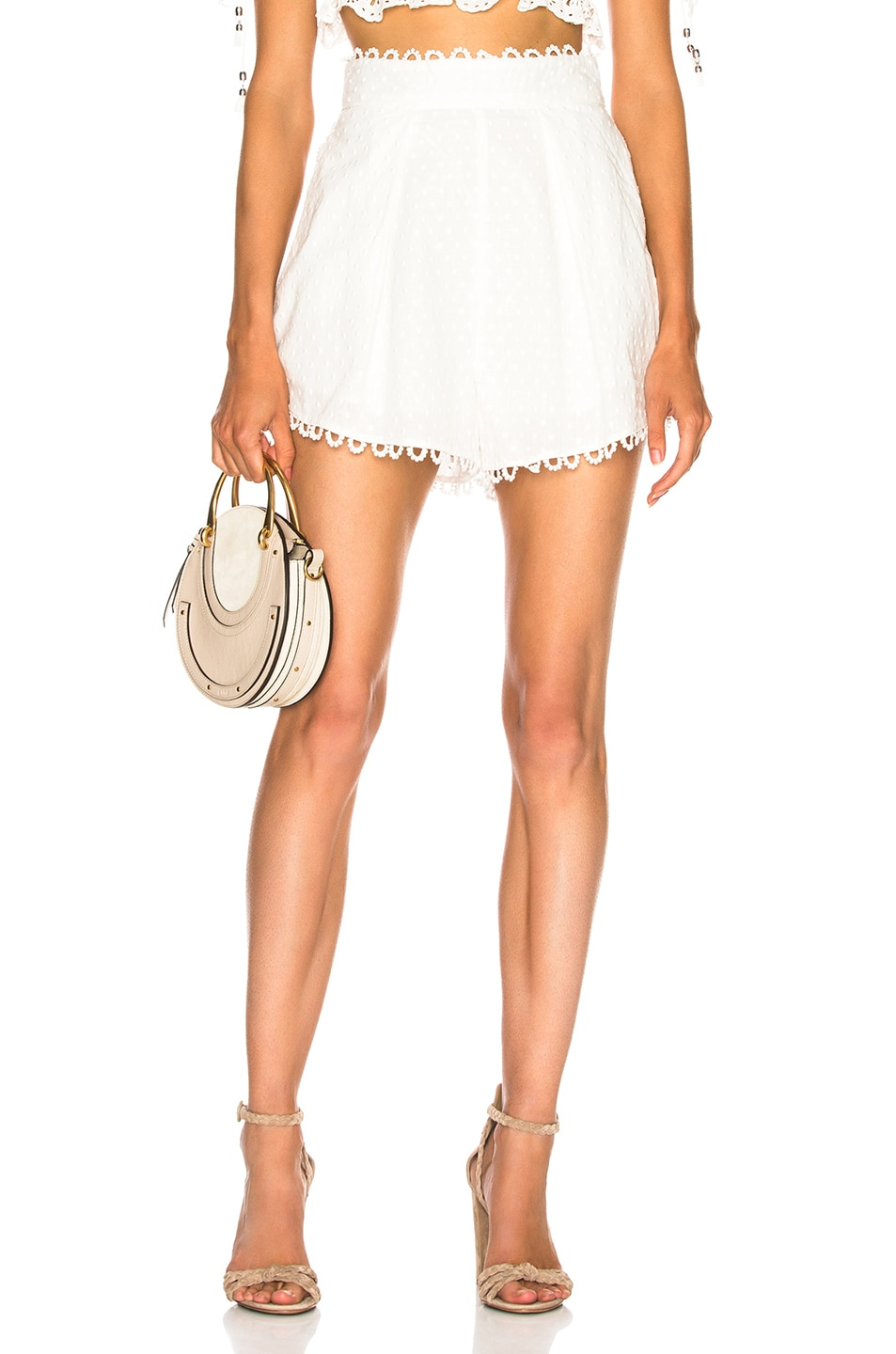 Image 1 of Zimmermann Melody High Waist Short in Ivory