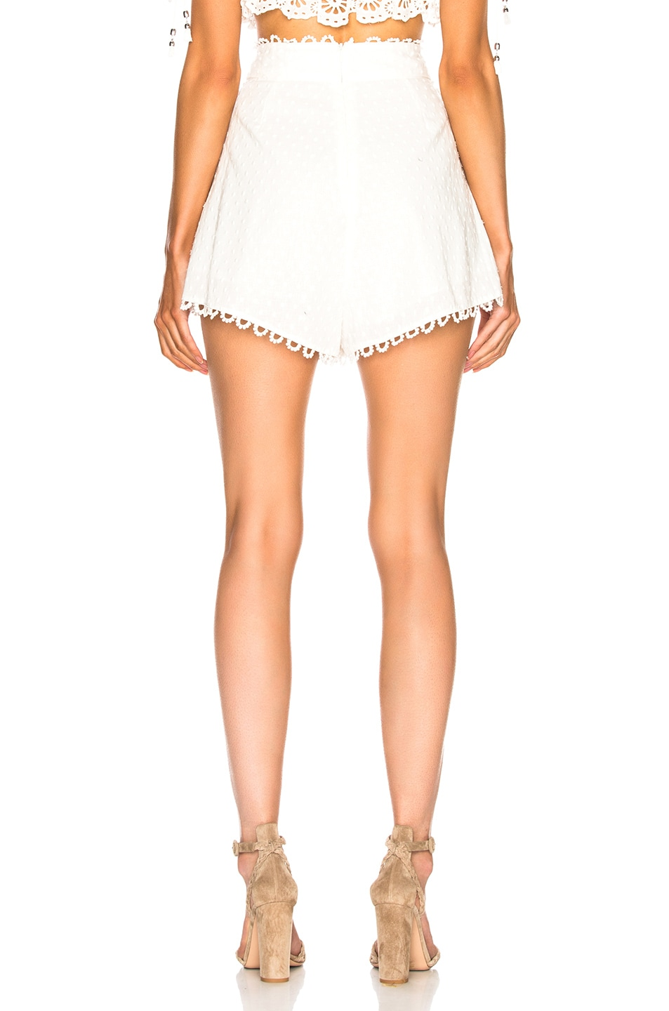 Image 3 of Zimmermann Melody High Waist Short in Ivory