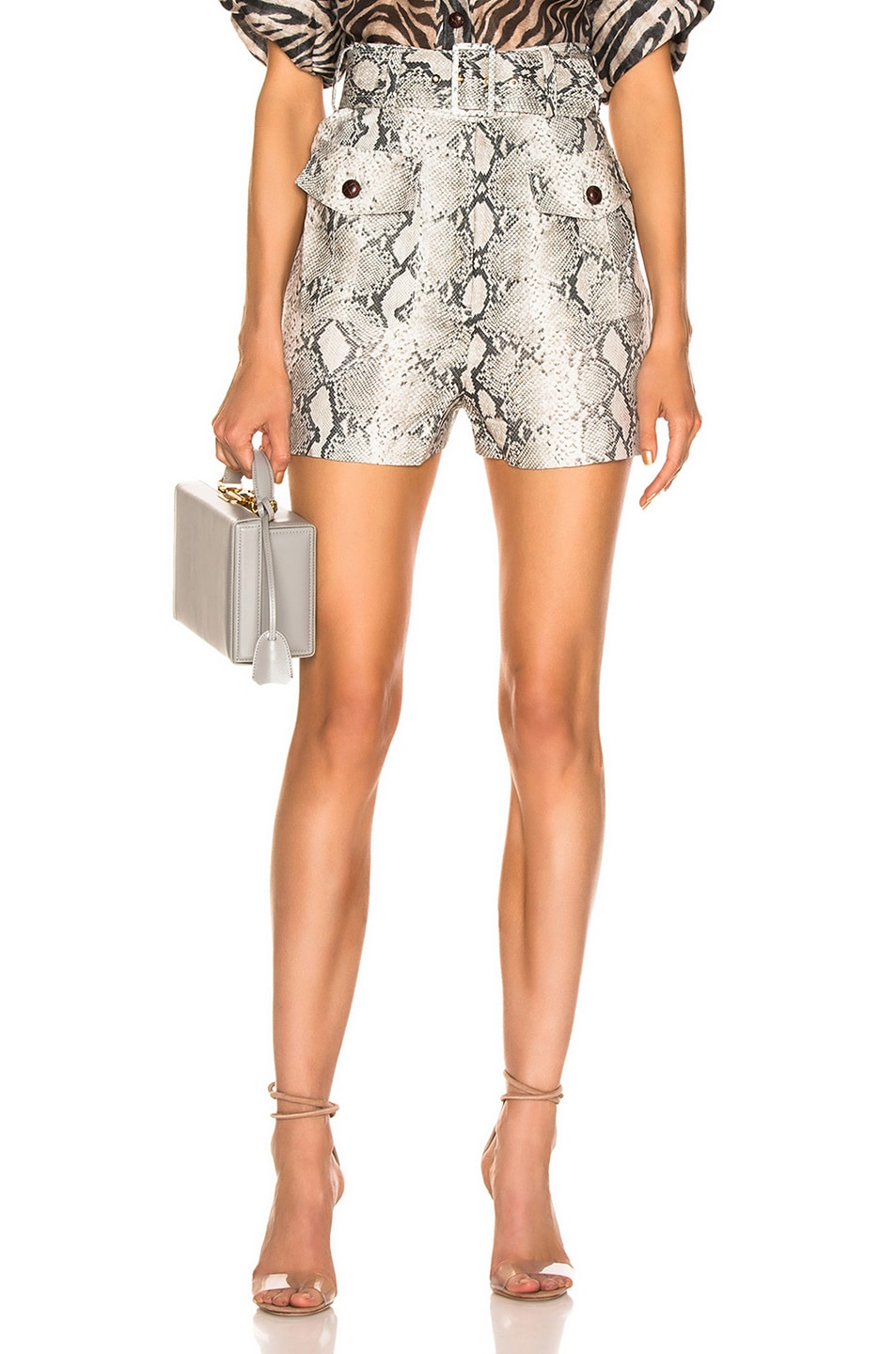 Image 1 of Zimmermann Corsage Safari Short in Python
