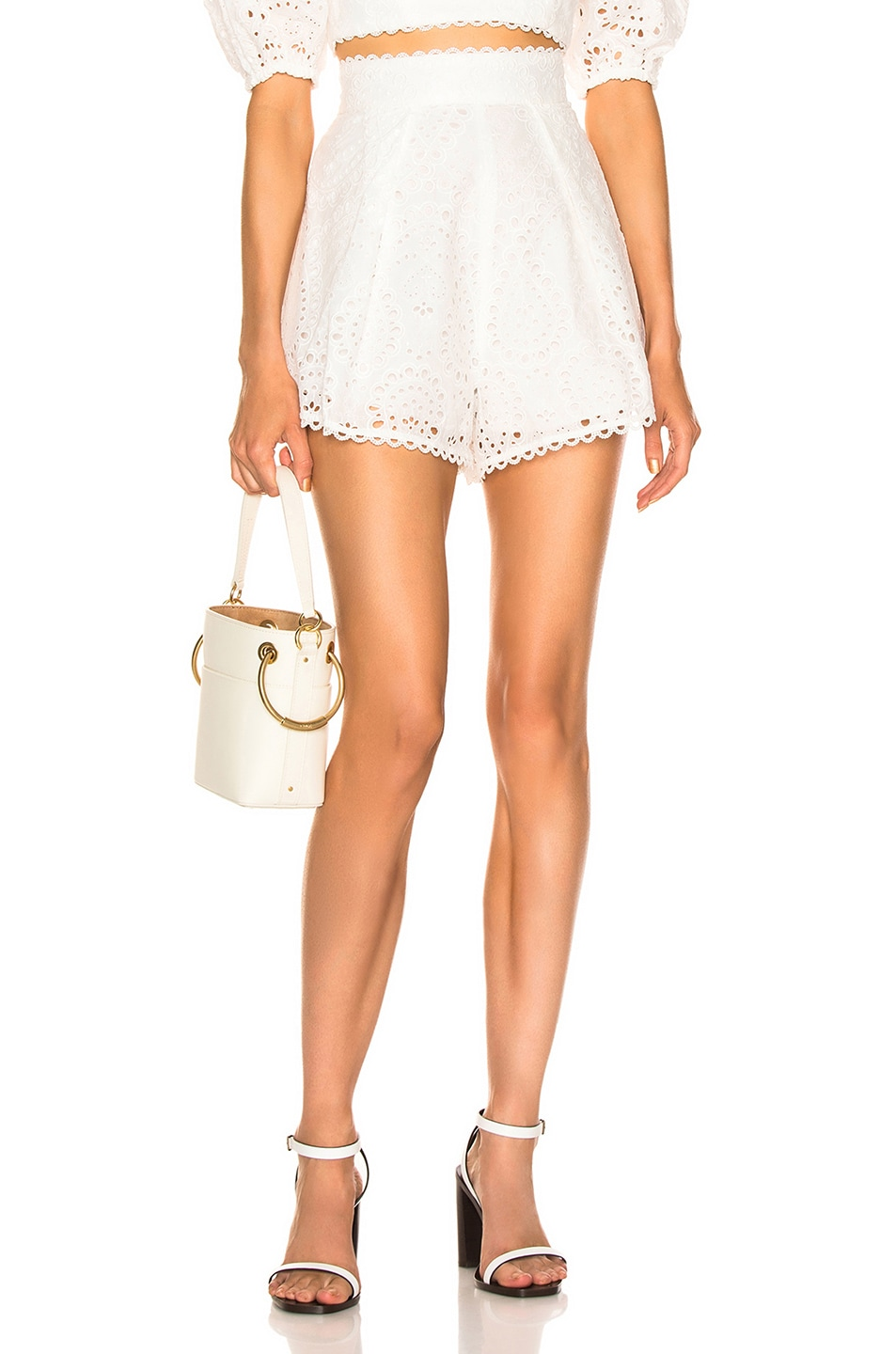 Image 1 of Zimmermann Heathers High Waisted Short in Ivory