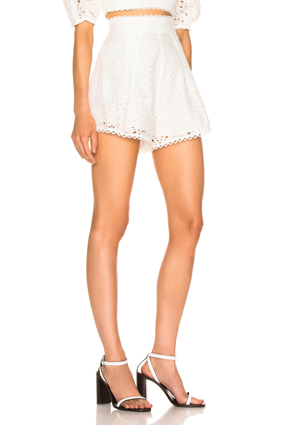 Image 2 of Zimmermann Heathers High Waisted Short in Ivory