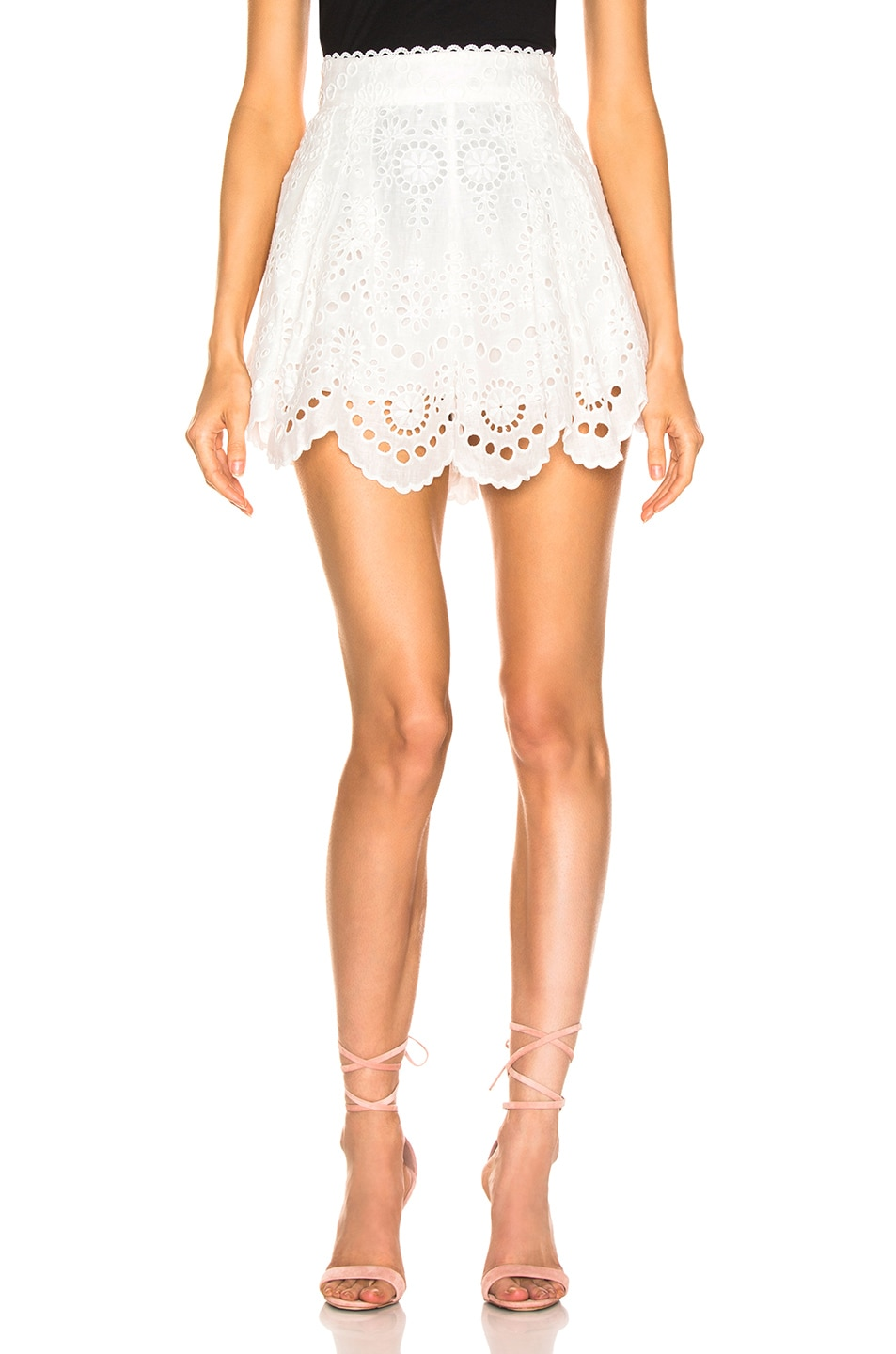 Image 1 of Zimmermann Bowie Scallop Short in Ivory