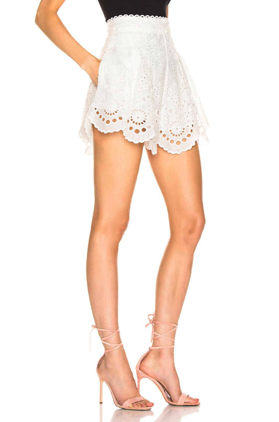 Image 2 of Zimmermann Bowie Scallop Short in Ivory
