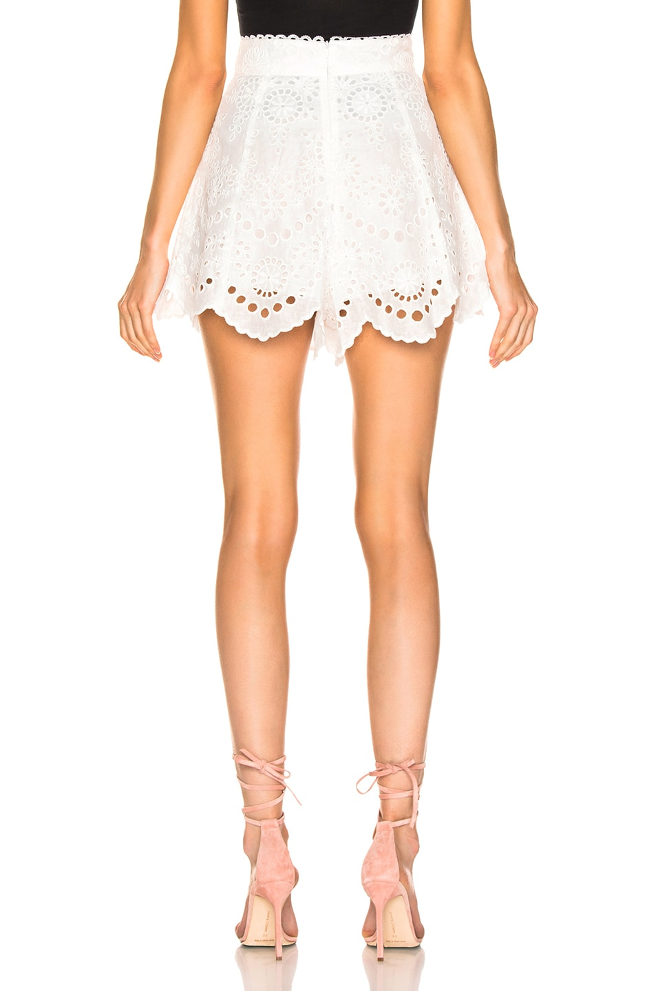 Image 3 of Zimmermann Bowie Scallop Short in Ivory