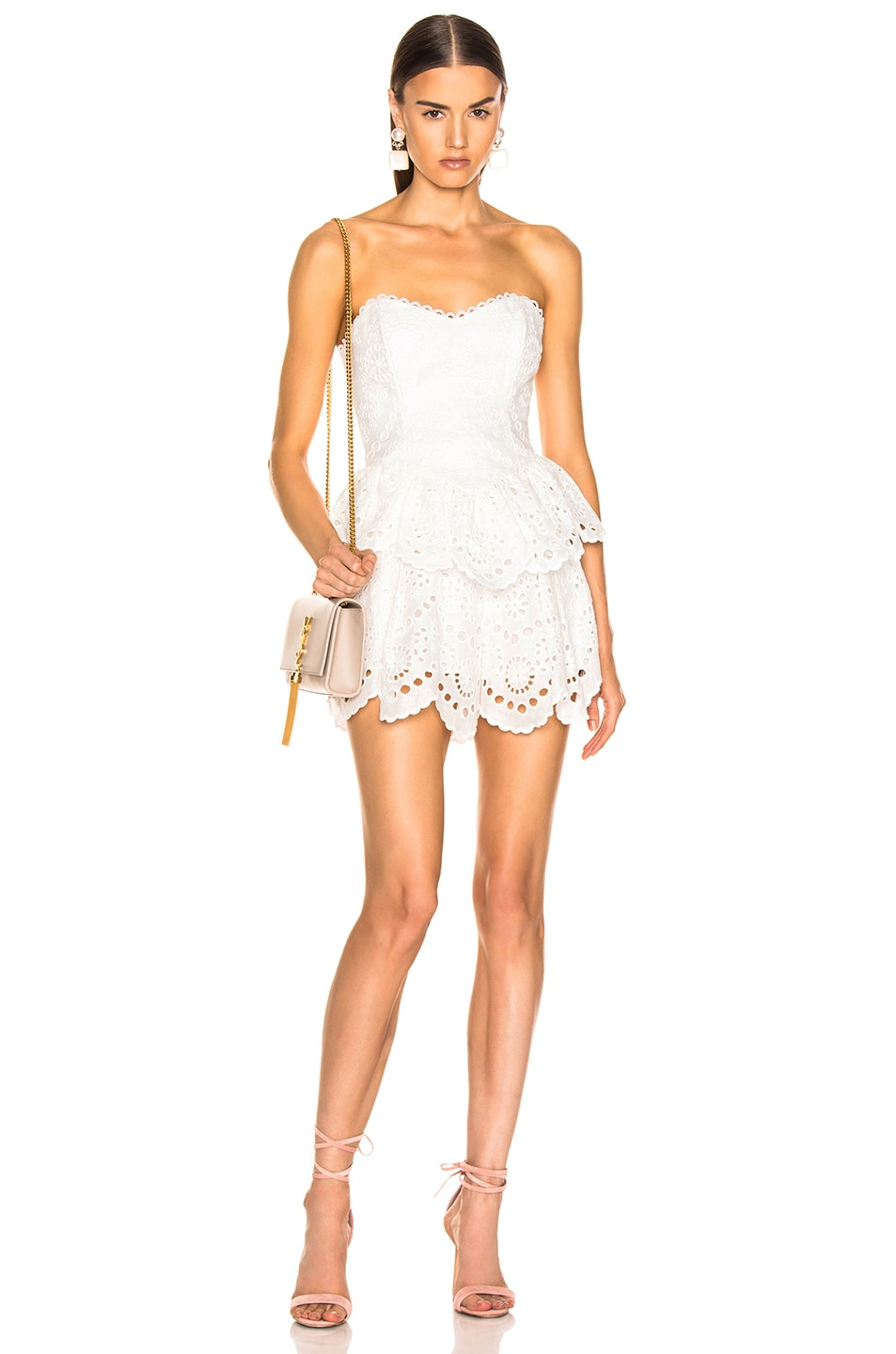 Image 4 of Zimmermann Bowie Scallop Short in Ivory