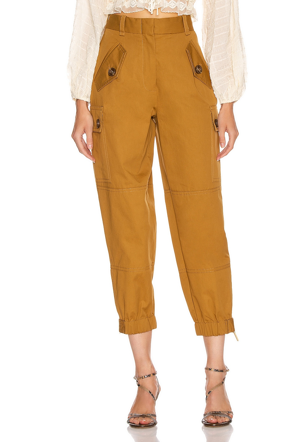Image 1 of Zimmermann Espionage Army Pant in Ocra