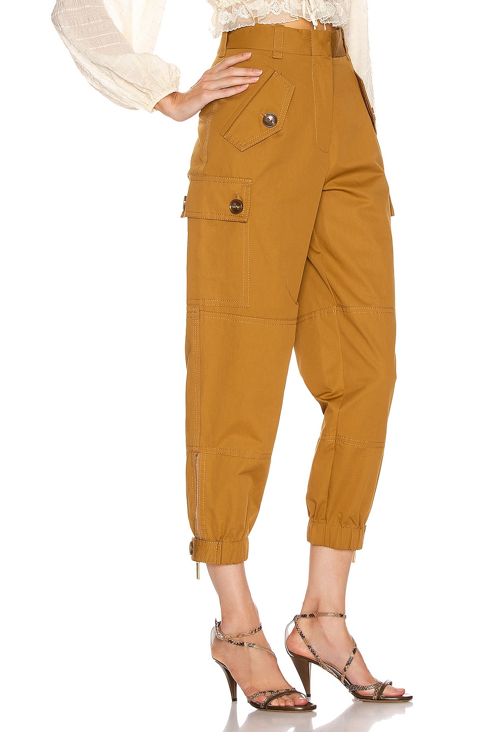 Image 2 of Zimmermann Espionage Army Pant in Ocra