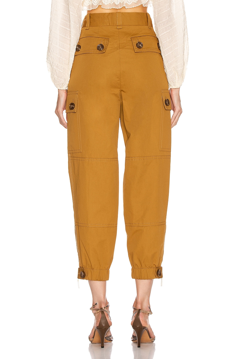 Image 3 of Zimmermann Espionage Army Pant in Ocra