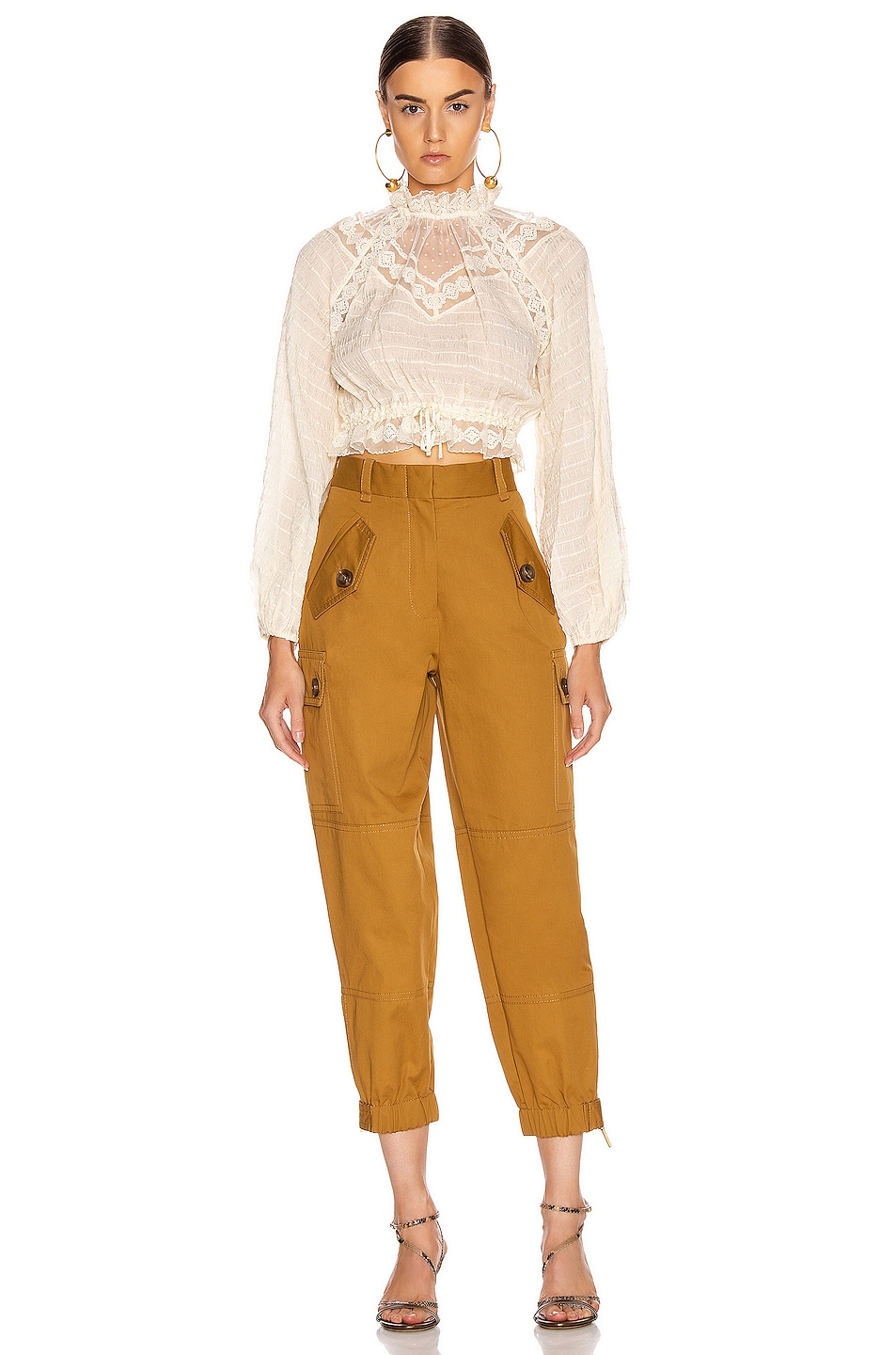 Image 4 of Zimmermann Espionage Army Pant in Ocra