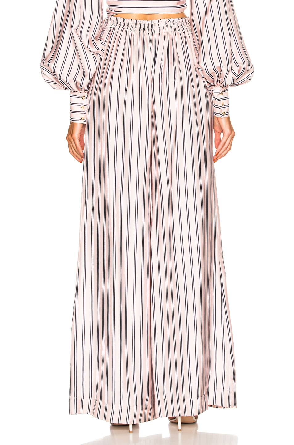 Image 3 of Zimmermann Sunny Relaxed Pant in Musk Multi Stripe
