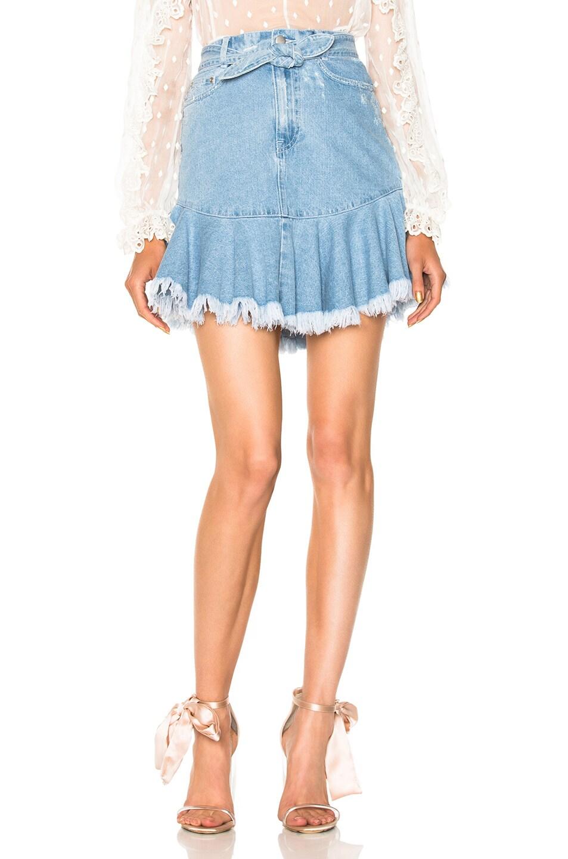 3523321fbf Image 1 of Zimmermann Tulsi Skirt in Denim