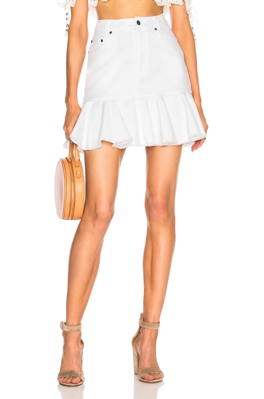 6dafdd8fa4 Image 1 of Zimmermann Lumino Flutter Skirt in White