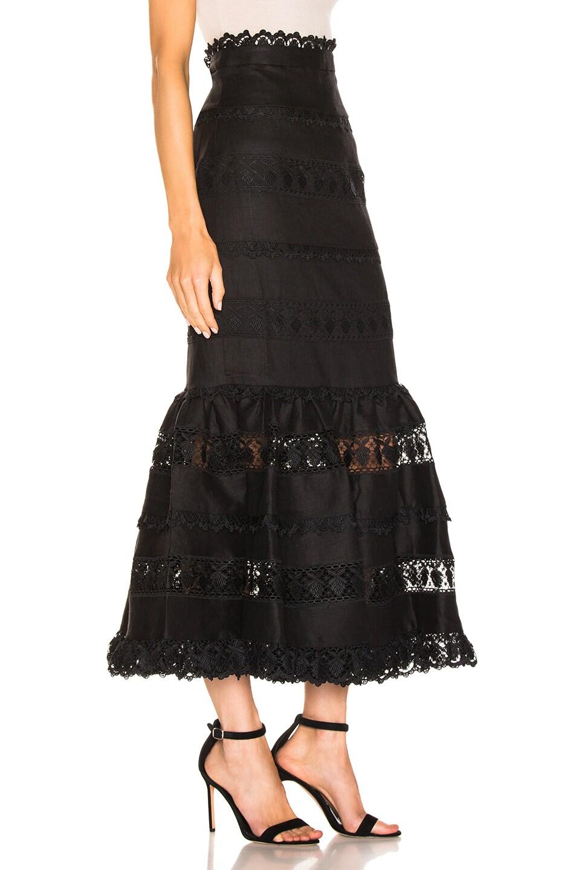 Image 2 of Zimmermann Wayfarer Panelled Skirt in Noir
