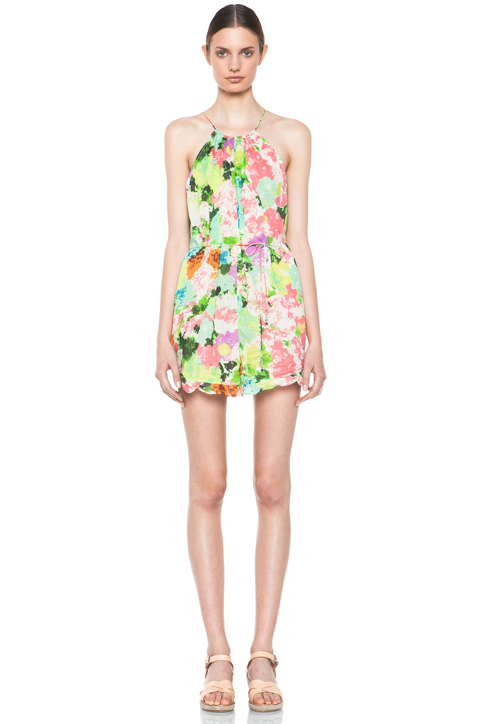 Image 1 of Zimmermann Brightside Frill Playsuit in Floral