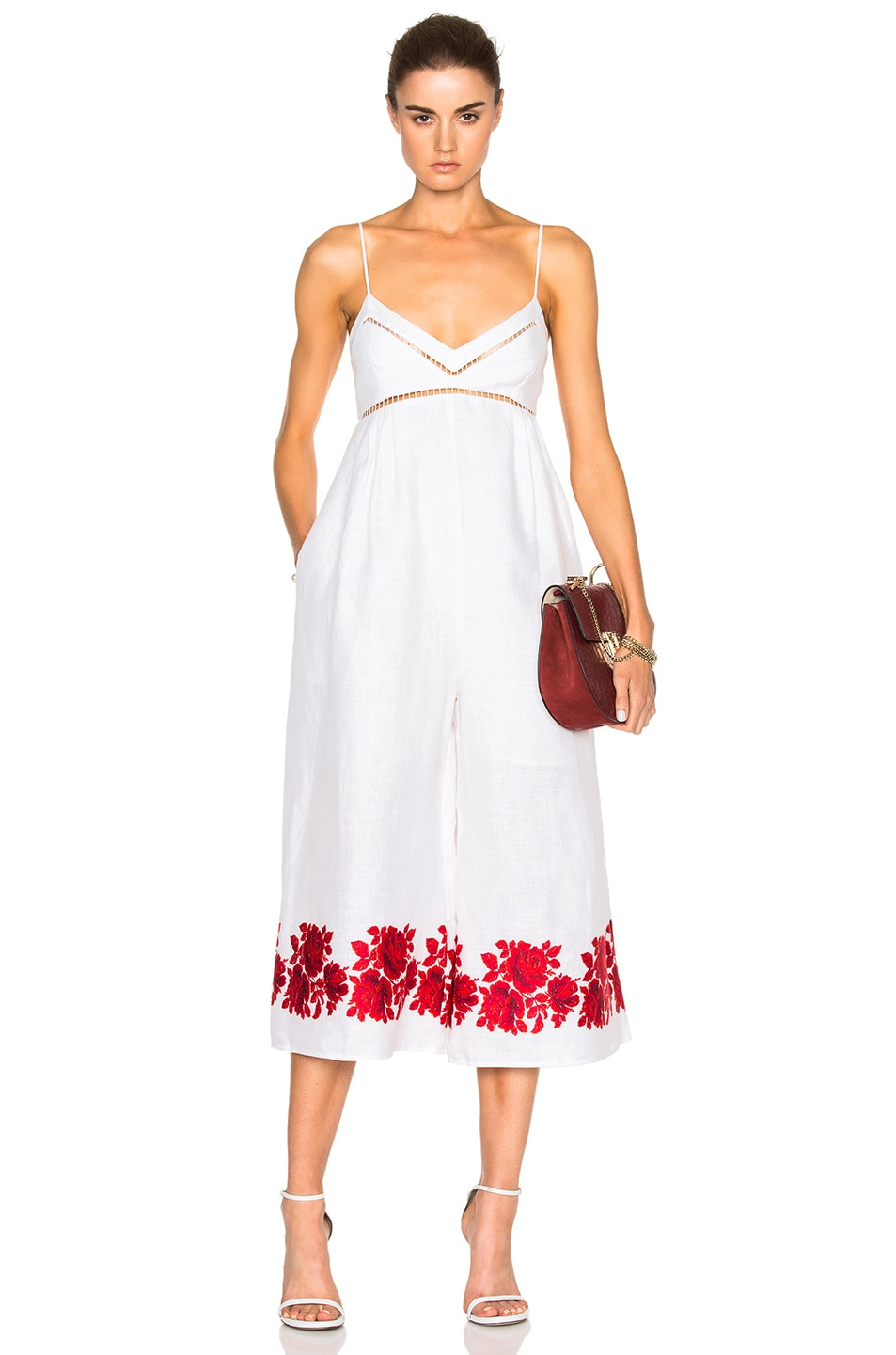 de0b06f577a3 Image 1 of Zimmermann Roza Border Jumpsuit in White