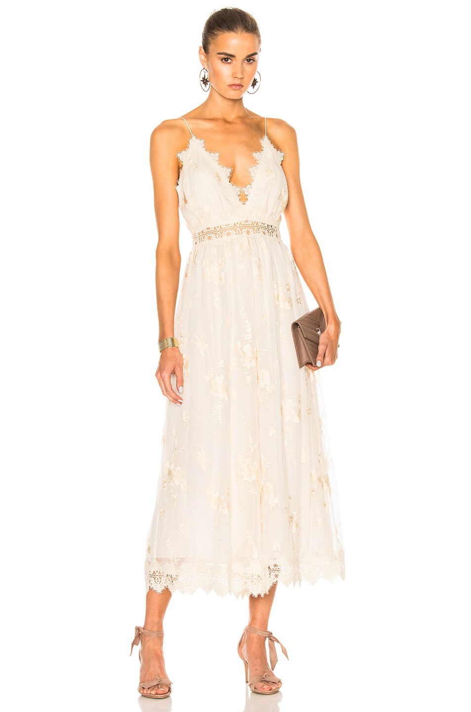 4ce6b7375e Image 1 of Zimmermann Tropicale Antique Jumpsuit in Ivory