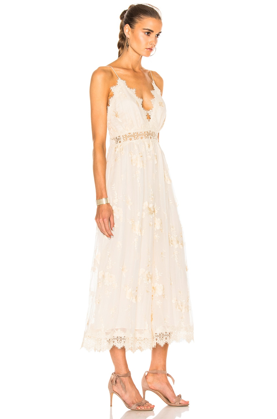 fc4829d205a2 Image 3 of Zimmermann Tropicale Antique Jumpsuit in Ivory