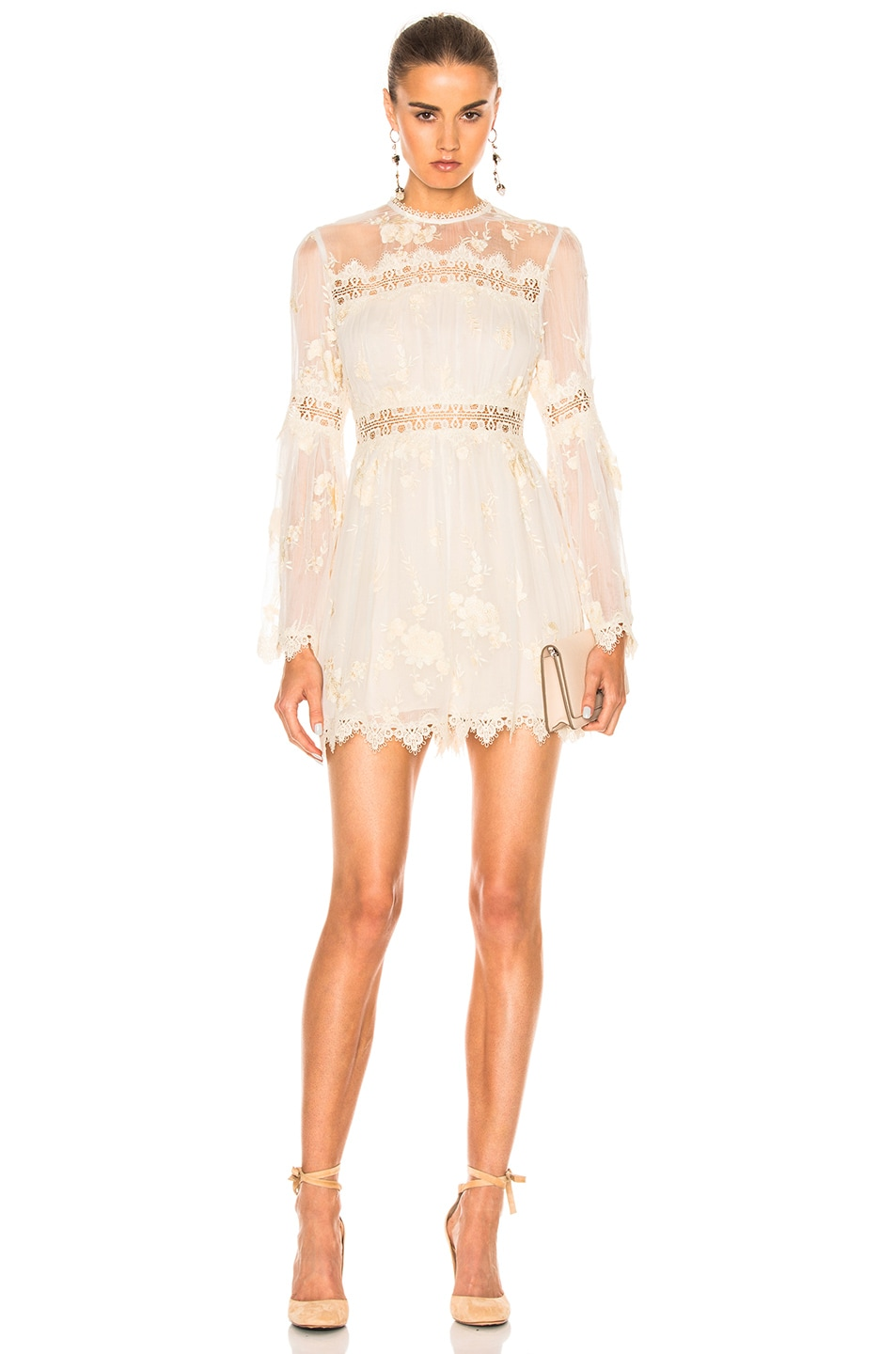 Image 1 of Zimmermann Tropicale Antique Romper in Ivory