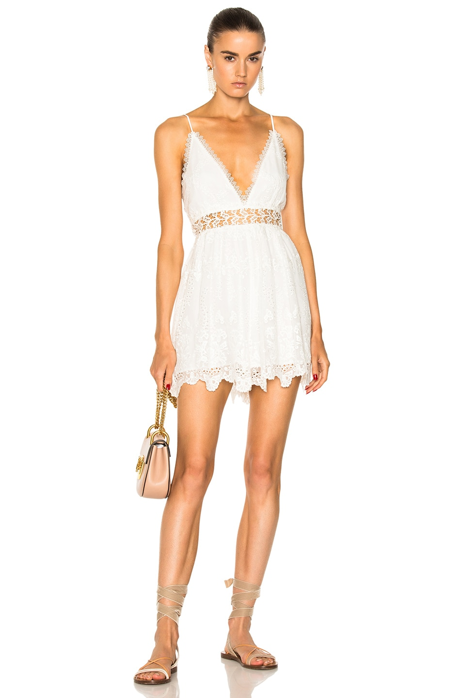 7f953e2518 Image 1 of Zimmermann Curacao Crinkle Playsuit in Ivory
