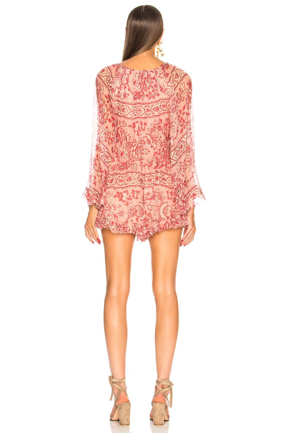 2ac5d3411d3 Image 3 of Zimmermann Castile Flared Sleeve Playsuit in Filigree Stripe