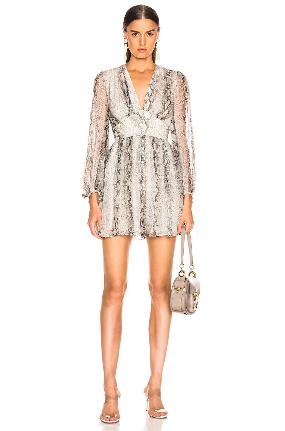 Image 1 of Zimmermann Corsage Fluted Playsuit in Python
