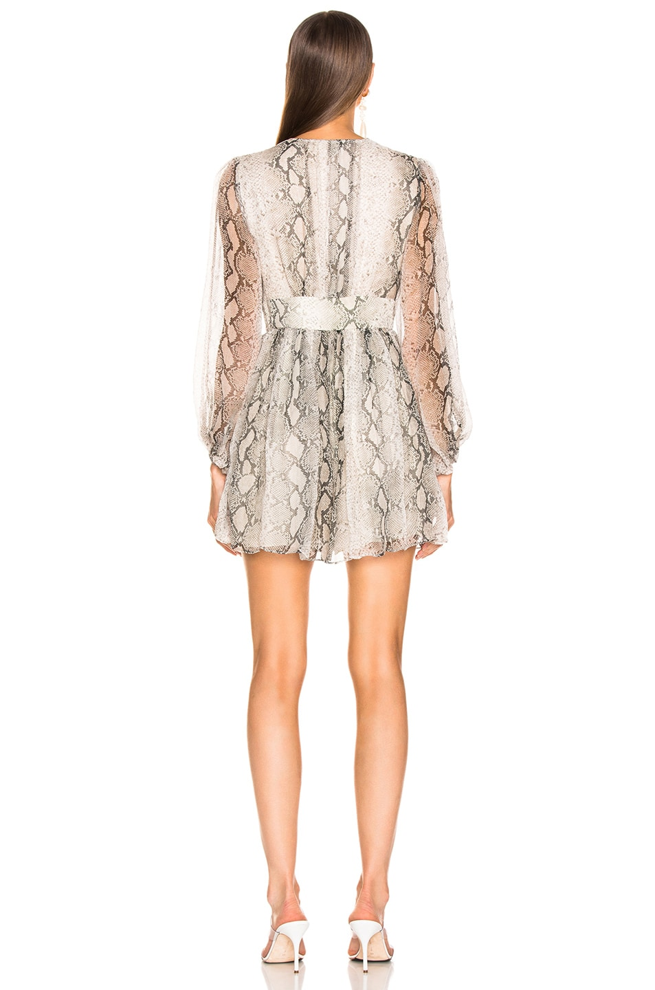 Image 3 of Zimmermann Corsage Fluted Playsuit in Python