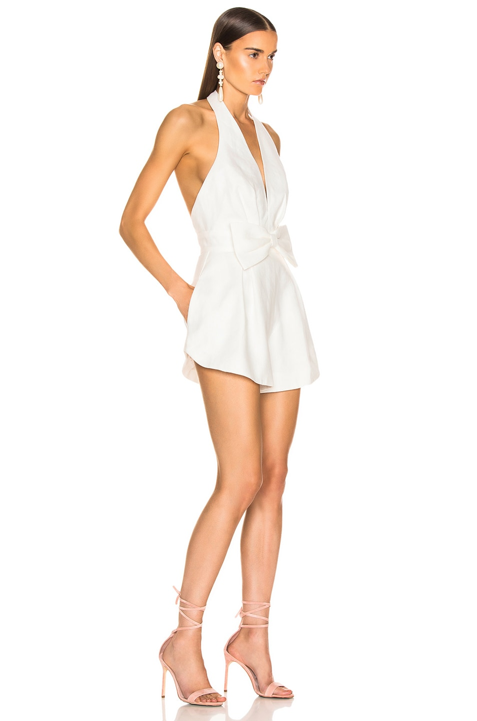 Image 2 of Zimmermann Corsage Tie Playsuit in Ivory