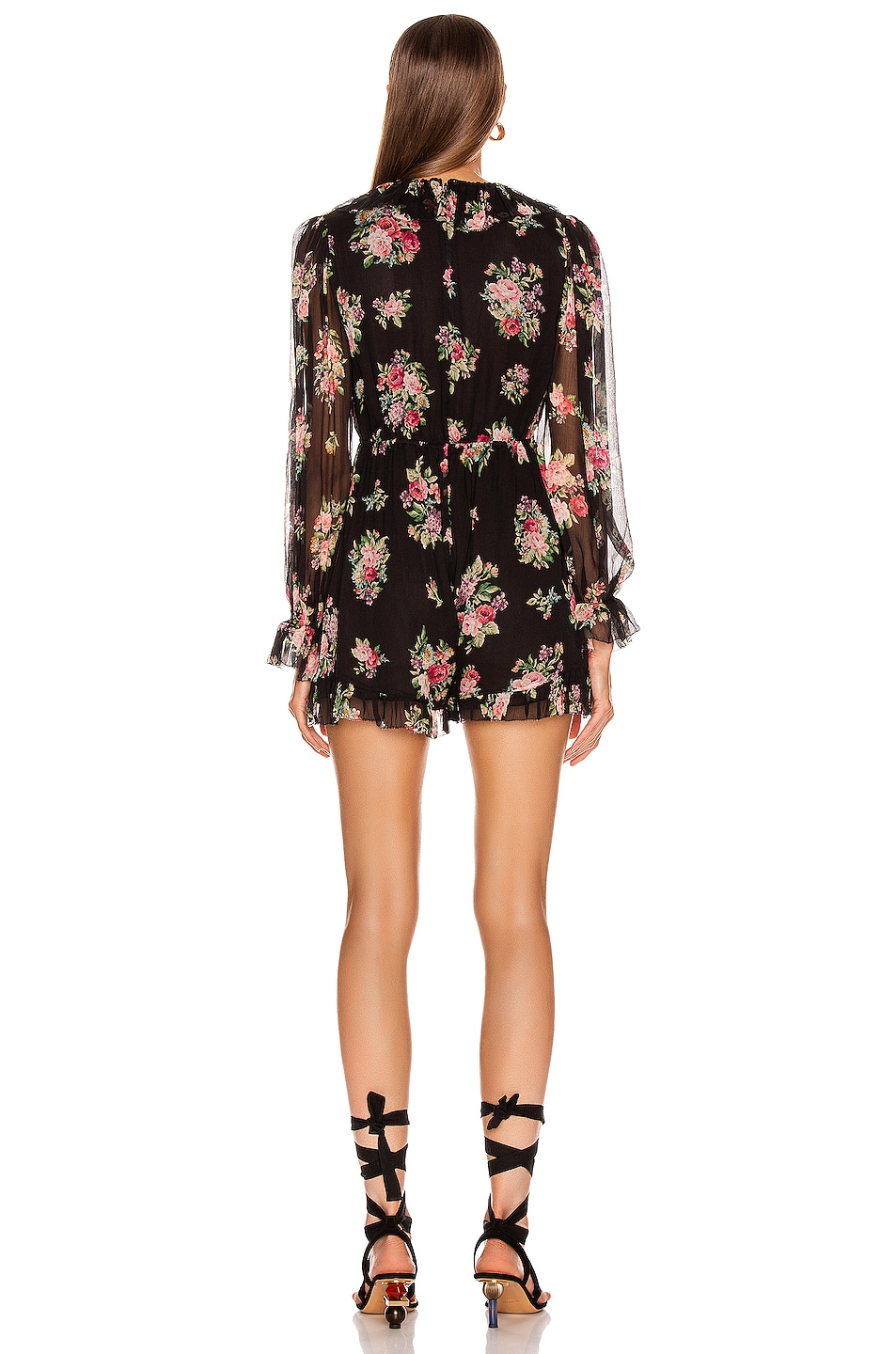 Image 3 of Zimmermann Honour Floating Playsuit in Black Floral