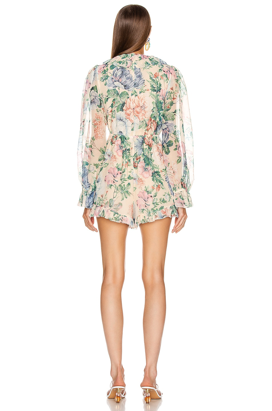 Image 3 of Zimmermann Verity Floating Playsuit in Cream Floral