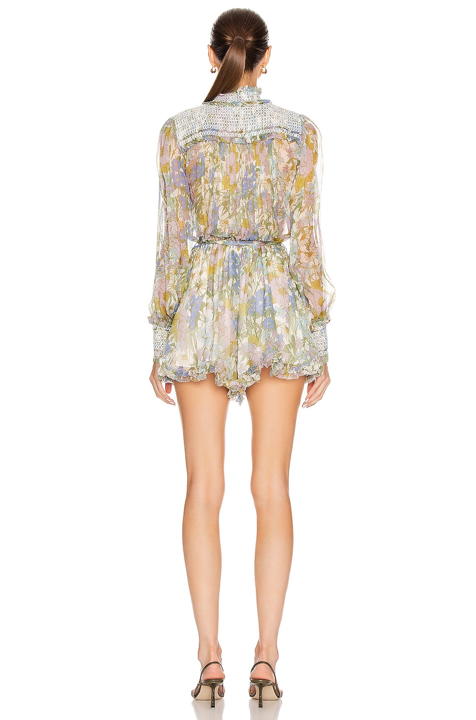 Image 3 of Zimmermann Super Eight Playsuit in Blue Meadow