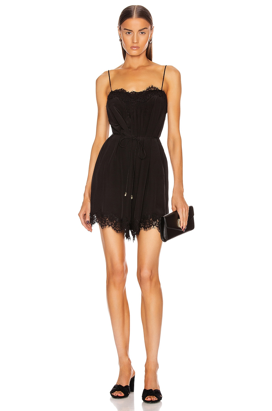 Image 1 of Zimmermann Lace Playsuit in Black