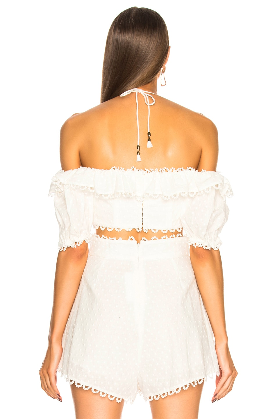 3a8103af5e5a5e Image 3 of Zimmermann Melody Off Shoulder Top in Ivory