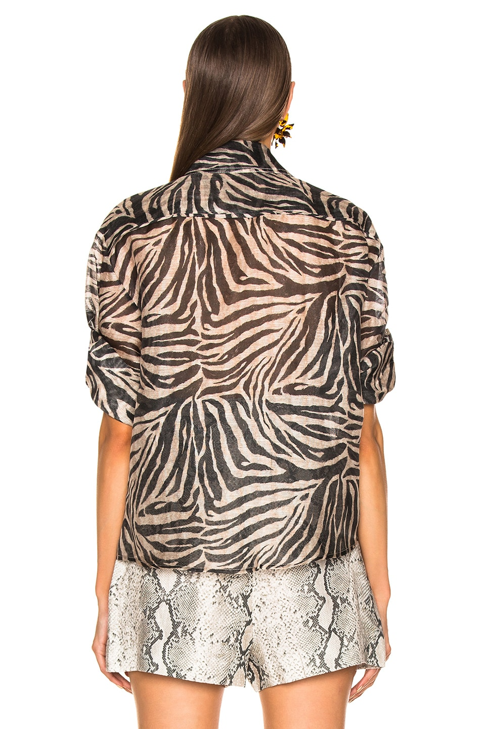 Image 3 of Zimmermann Corsage Safari Shirt in Zebra