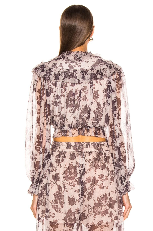 Image 3 of Zimmermann Juno Tie Blouse in Aged Batik