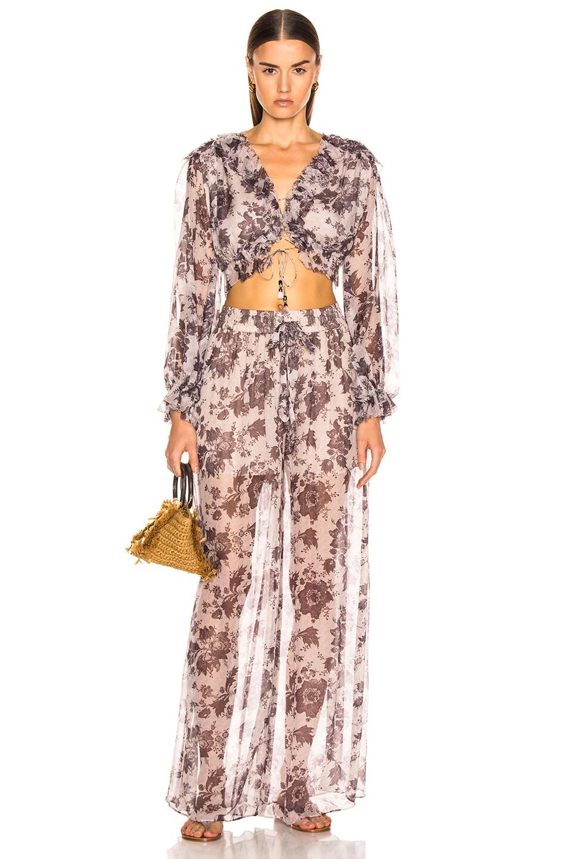 Image 4 of Zimmermann Juno Tie Blouse in Aged Batik