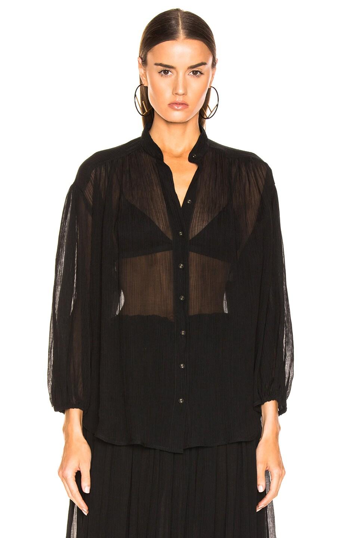 Image 2 of Zimmermann Primrose Crinkle Shirt in Noir