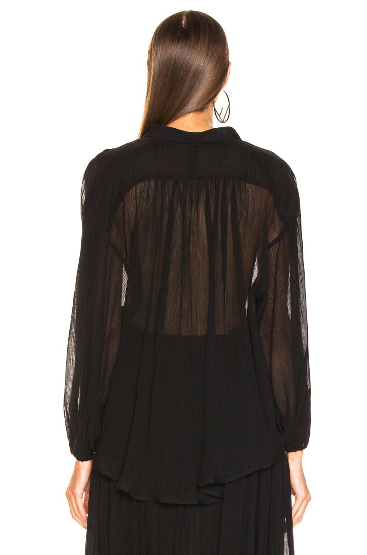Image 4 of Zimmermann Primrose Crinkle Shirt in Noir