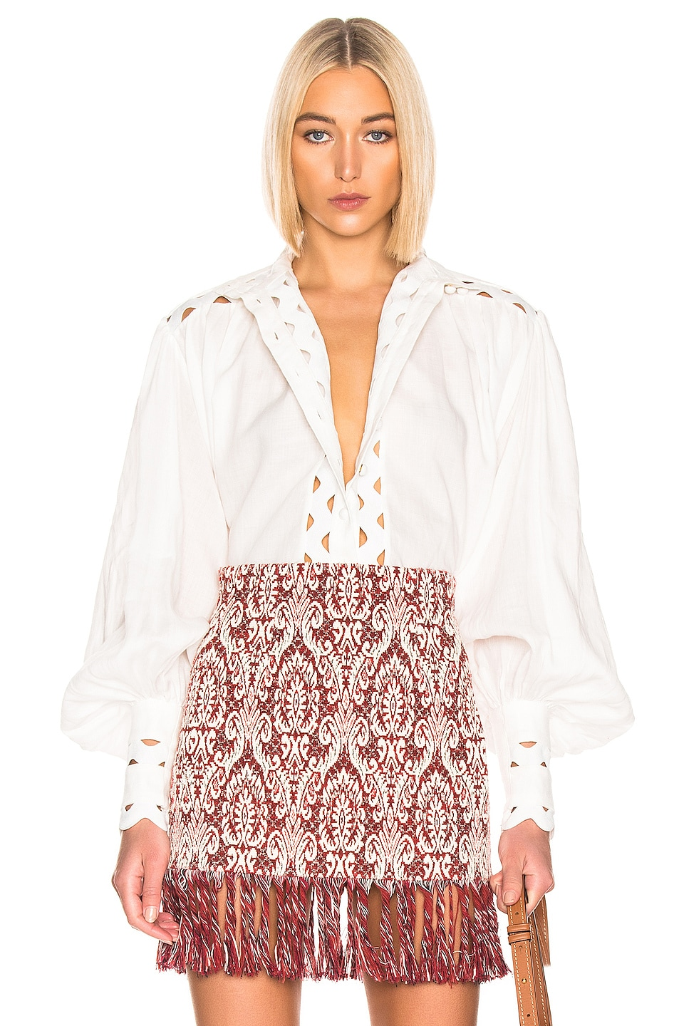 Image 1 of Zimmermann Ninety Six Wave Top in Ivory