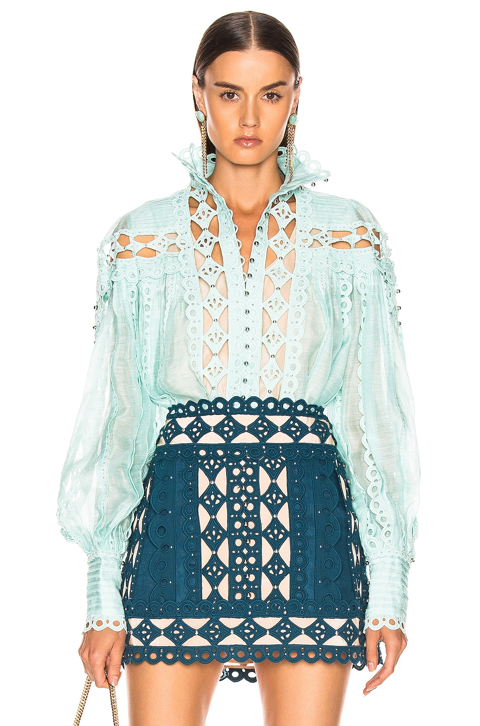 Zimmermann Accessories Moncur Studded Blouse