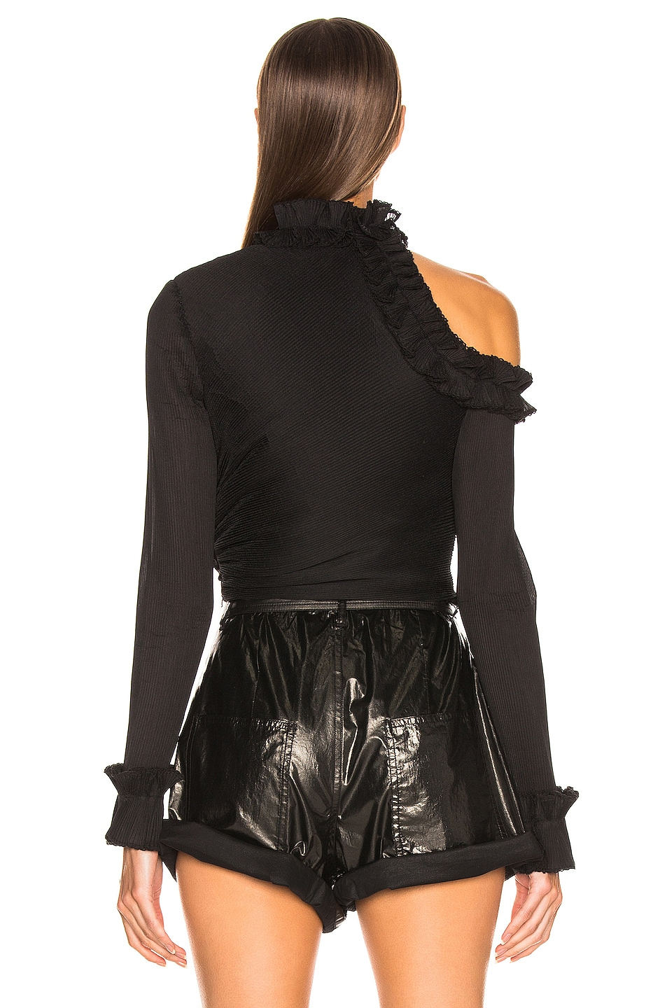 Image 4 of Zimmermann Moncur Ruffle Neck Bodice in Black