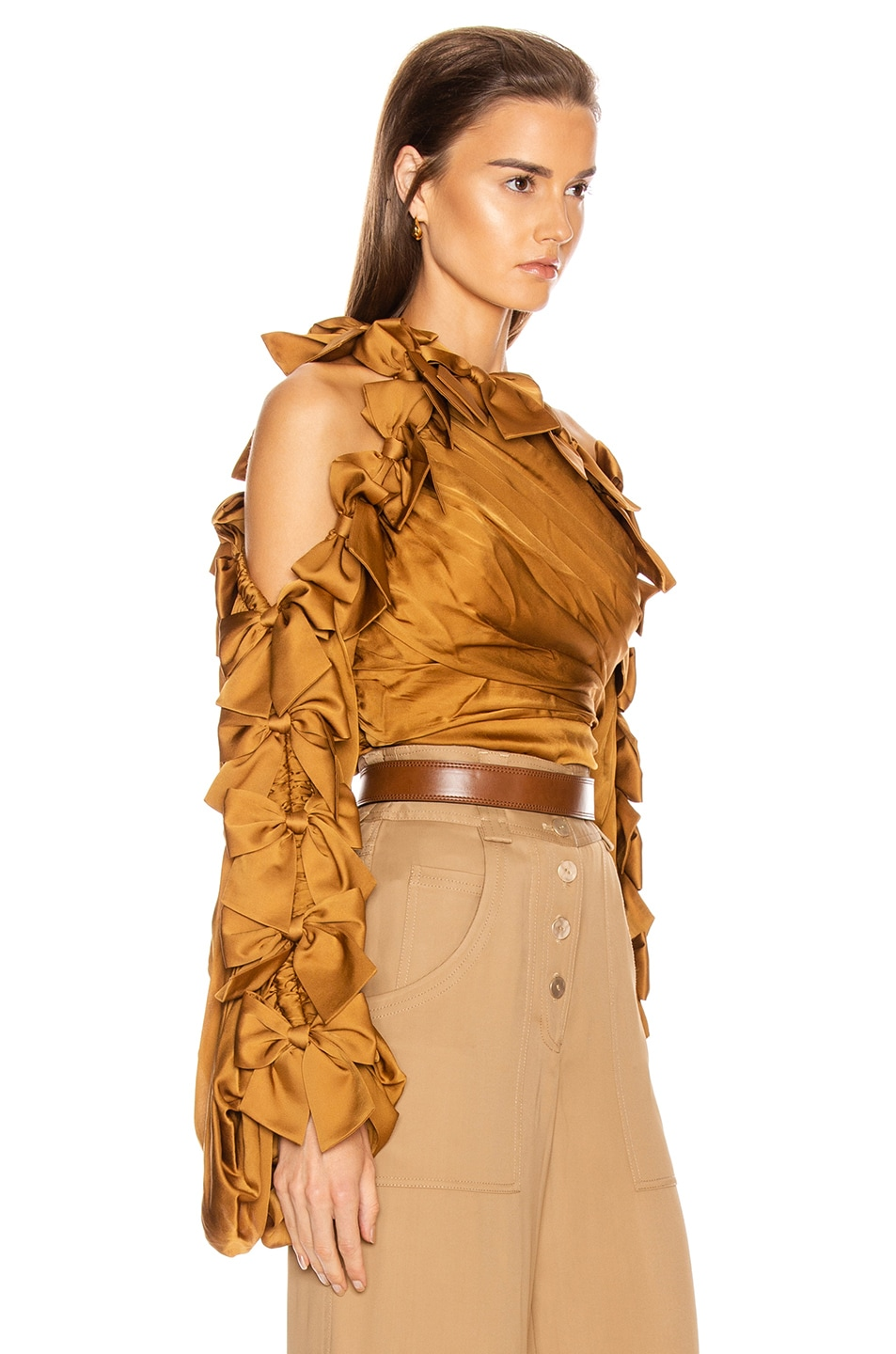 Image 2 of Zimmermann Resistance Bow Bodice Top in Butterscotch