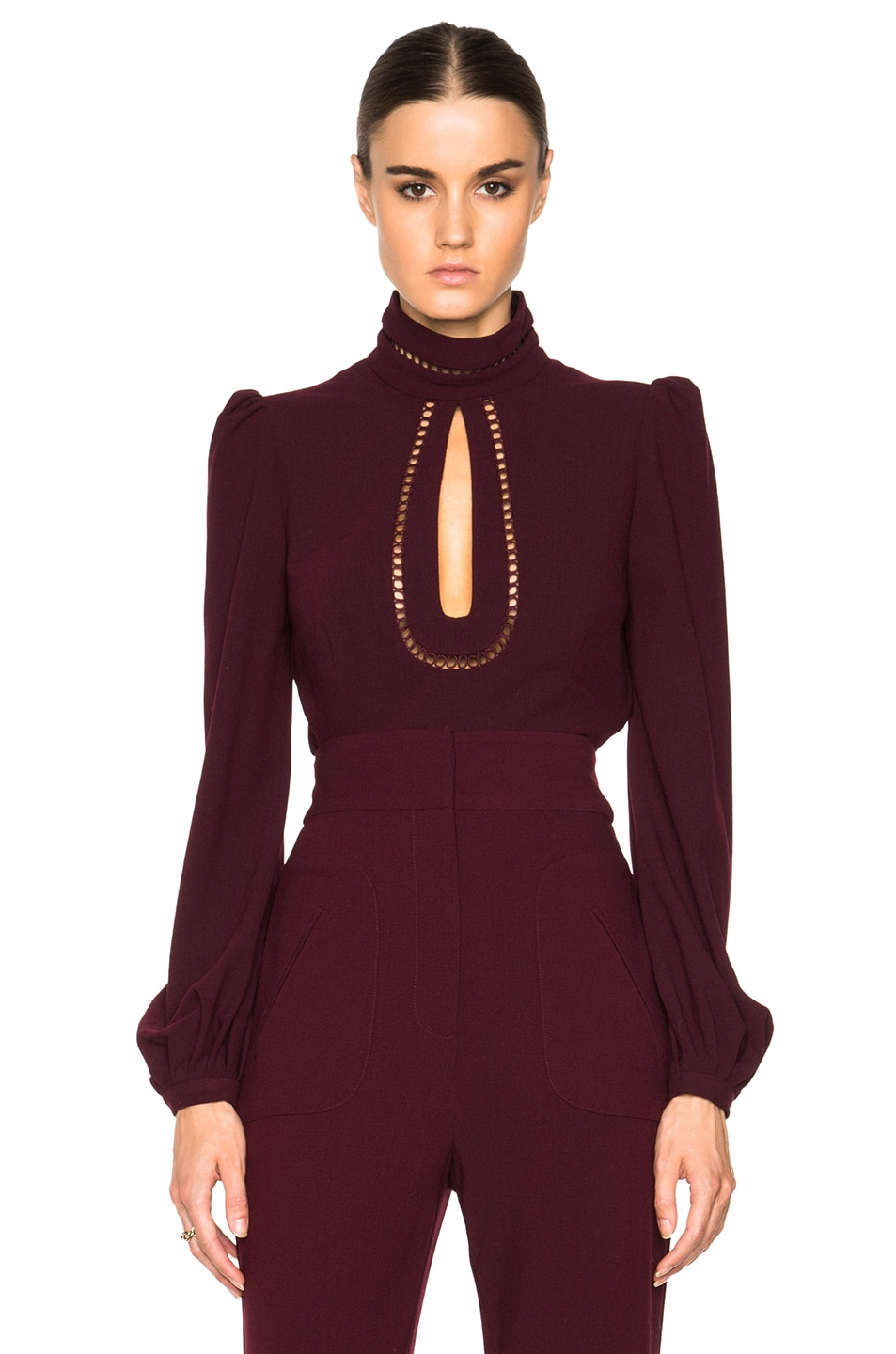 Image 1 of Zimmermann Rhythm Moulded Top in Mulberry