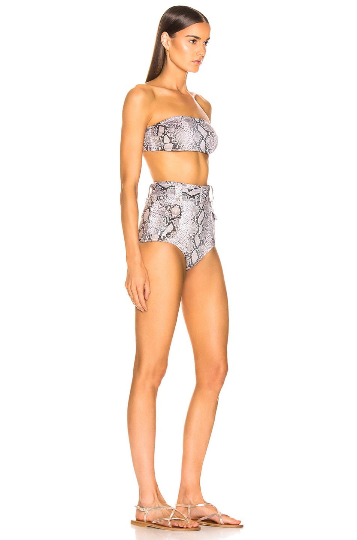 Image 2 of Zimmermann Corsage Safari Bikini Set in Python