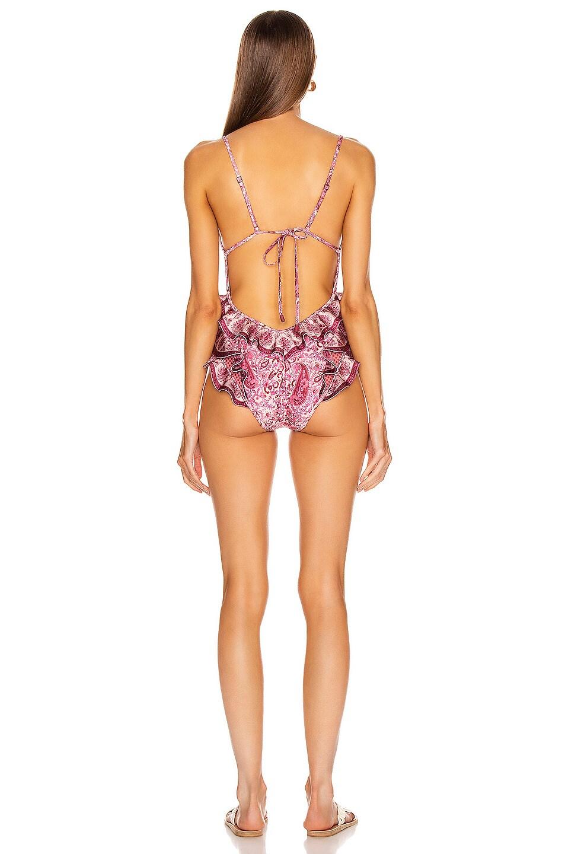 Image 3 of Zimmermann Amari Waterfall Swimsuit in Spliced