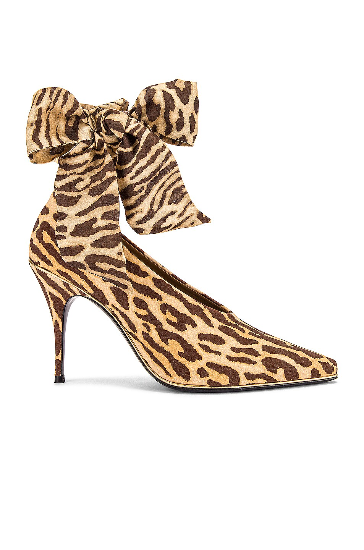 Image 1 of Zimmermann Ankle Tie Lycra Heel in Animal